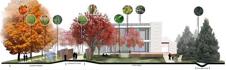 Image by Lauren Heermann, Assistant Professor Jessica Canfield's LAR410 Planting Design Class